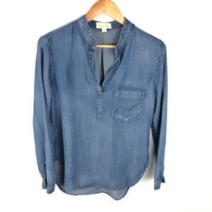 Cloth and Stone Chambray Long Sleeve Top Small